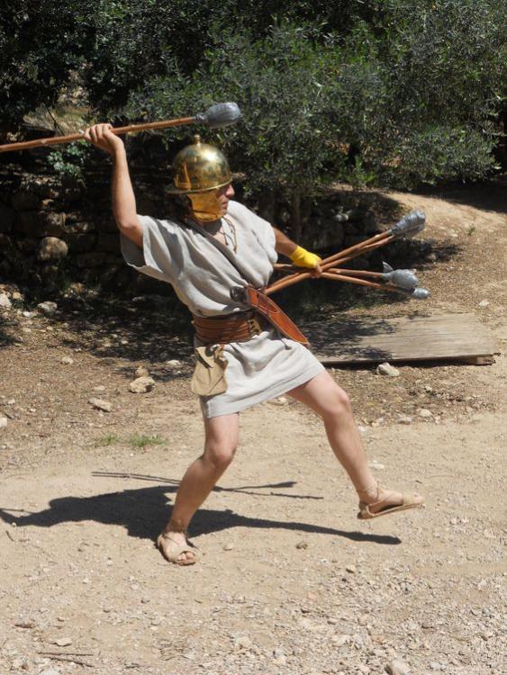 Iberian warrior reenactors