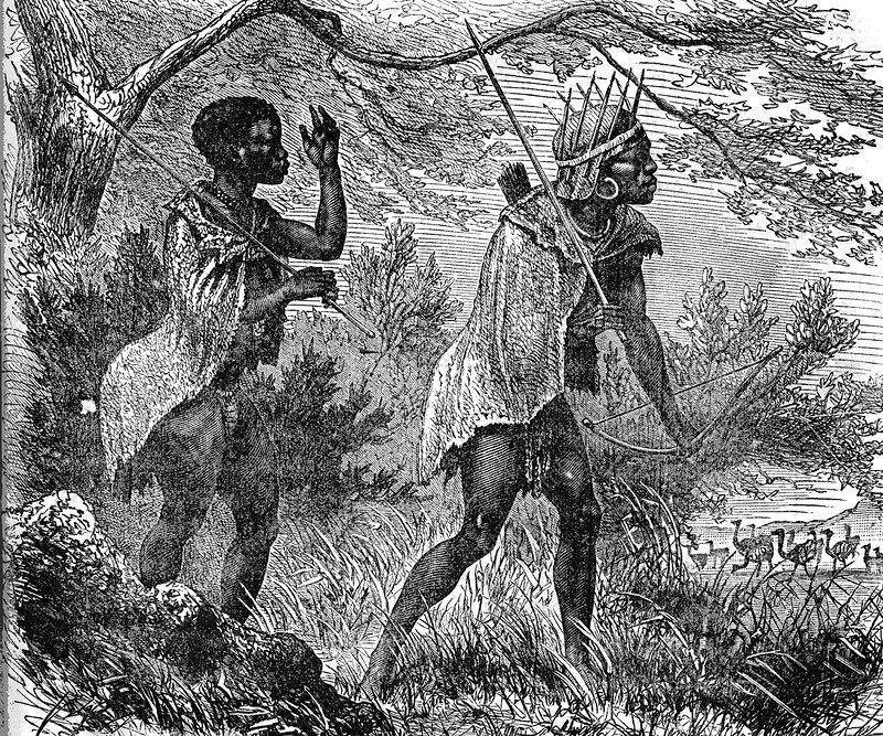 C0264564-African_bushmen,_19th_C_illustr