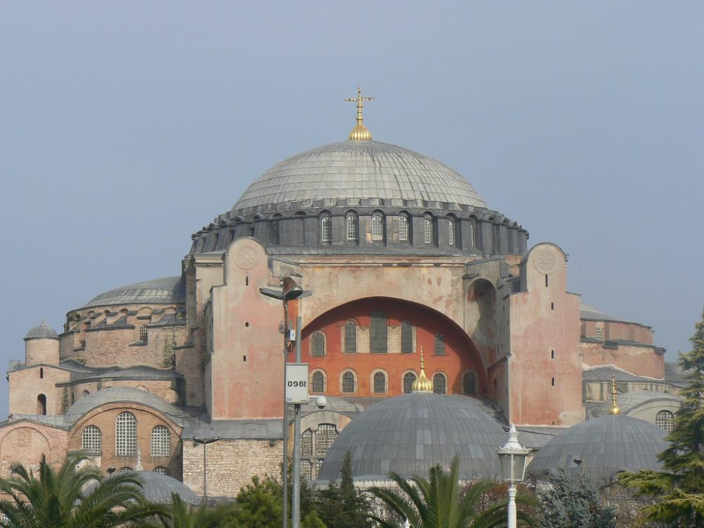 Hagia Sophia Cathedral with Cross / Constantinople