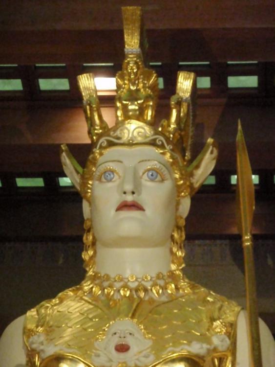 closeup on Athena's face