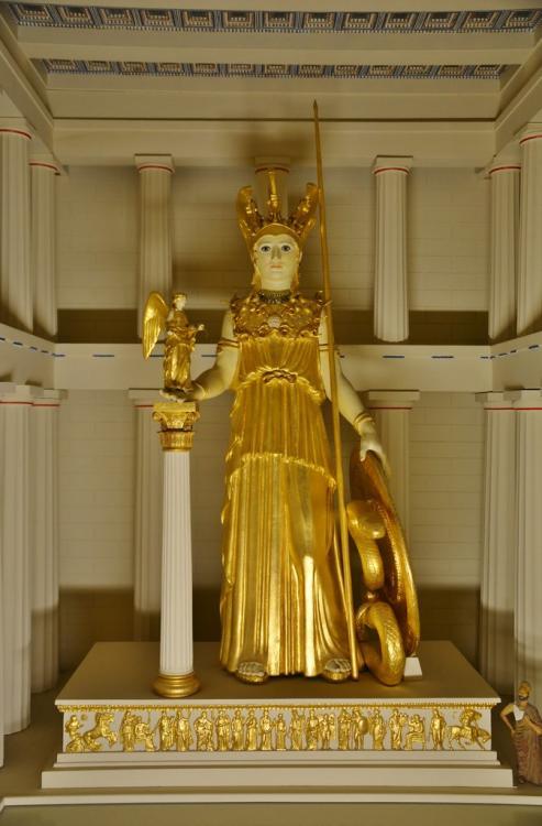 The Athena Parthenos, Greek Exhibits, Royal Ontario Museum, Toronto, ON