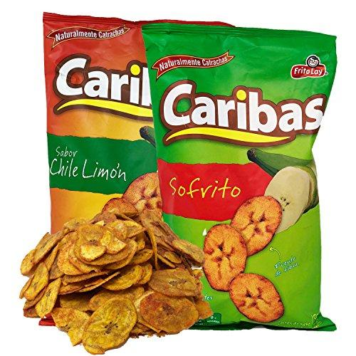 Caribas Plantain Chips: Fried Plantain Chips With Chili and Lime ...
