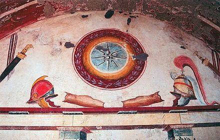 Resultado de imagen para hellenistic soldiers fresco