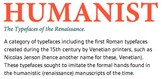 Resultado de imagen para 15th century roman typeface humanistic