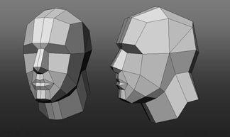 Resultado de imagen para 3D face low poly