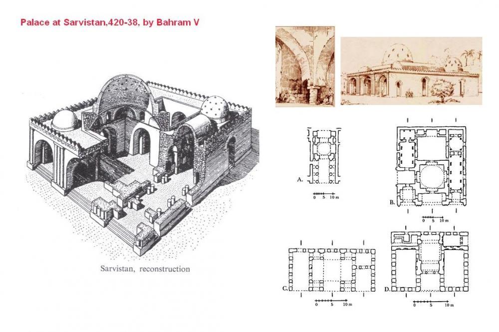 Sassanian (Palace at Sarvistan) - Palace at Sarvistan, 420-438 AD ...