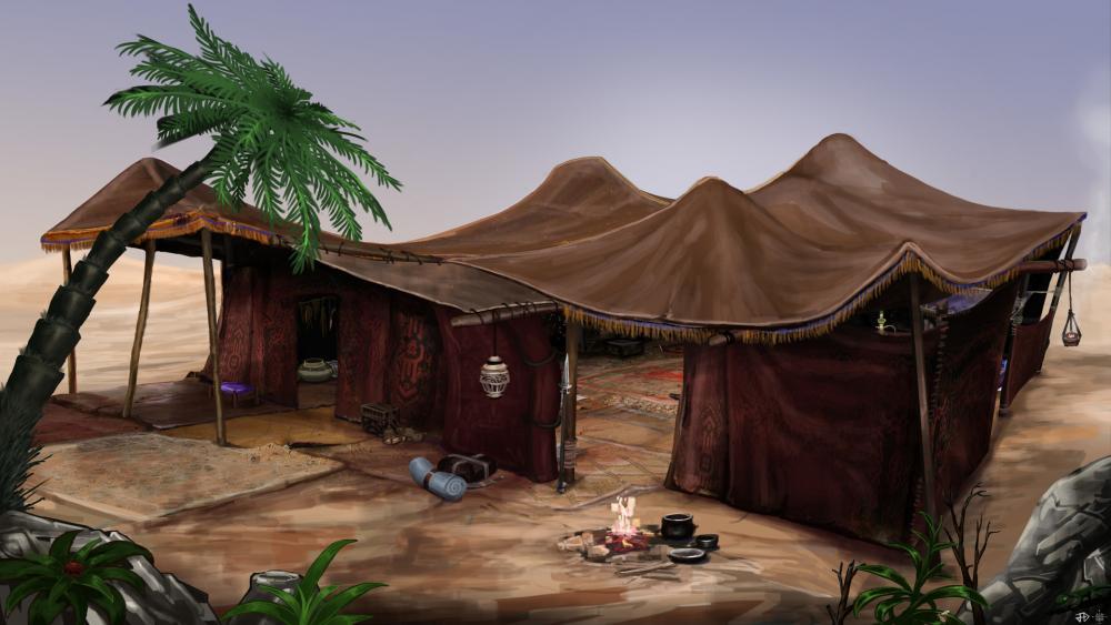 Resultado de imagen para art asset desert tents