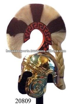 Brass-Chalcidian-Armor-Helmet-with-Plume