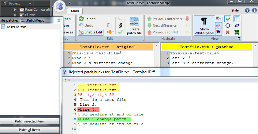 SVN Patch file behaviour when applied to out of sync working copy ...