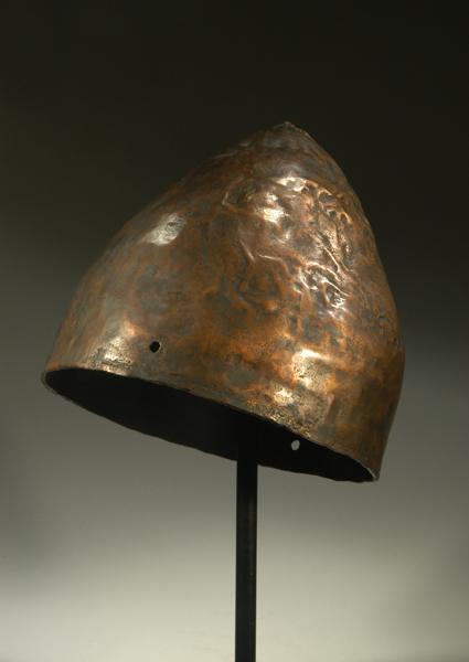Phoenician bronze helmet