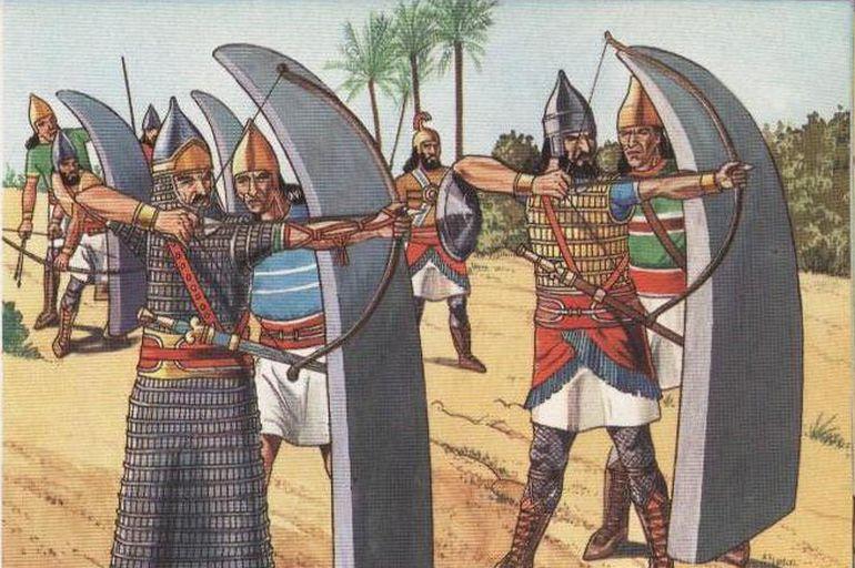 Resultado de imagen para assyrian infantry