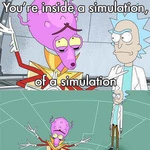 Resultado de imagen para a simulation inside a simulation