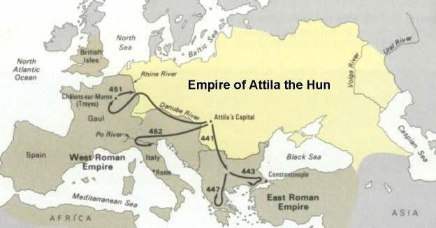 Resultado de imagen para Attila kingdom europe huns -total