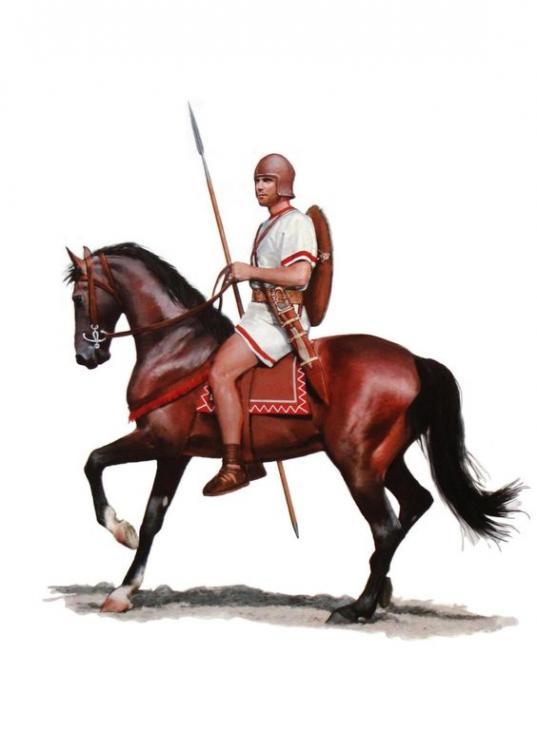 Iberian cavalry during the Punic Wars. They were excellent cavalry and contributed to some of Carthage's greatest victories over Rome.