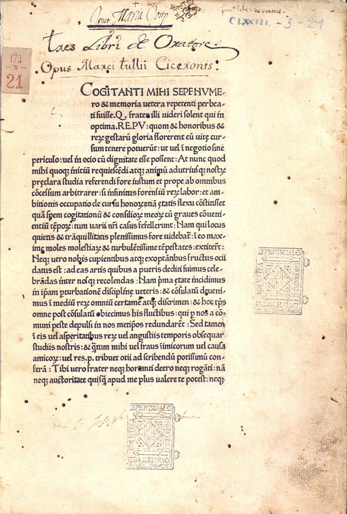 cicero-1465 first roman typeface