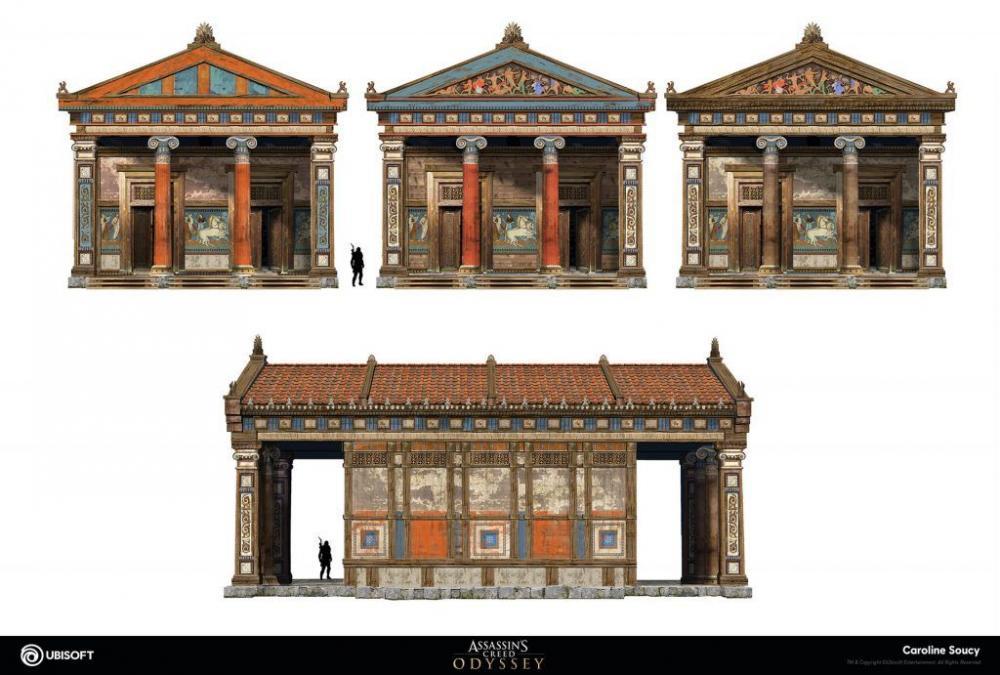 Resultado de imagen para assassin's creed odyssey art buildings assets