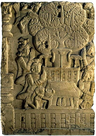 Image result for Sanchi stupa relief throne