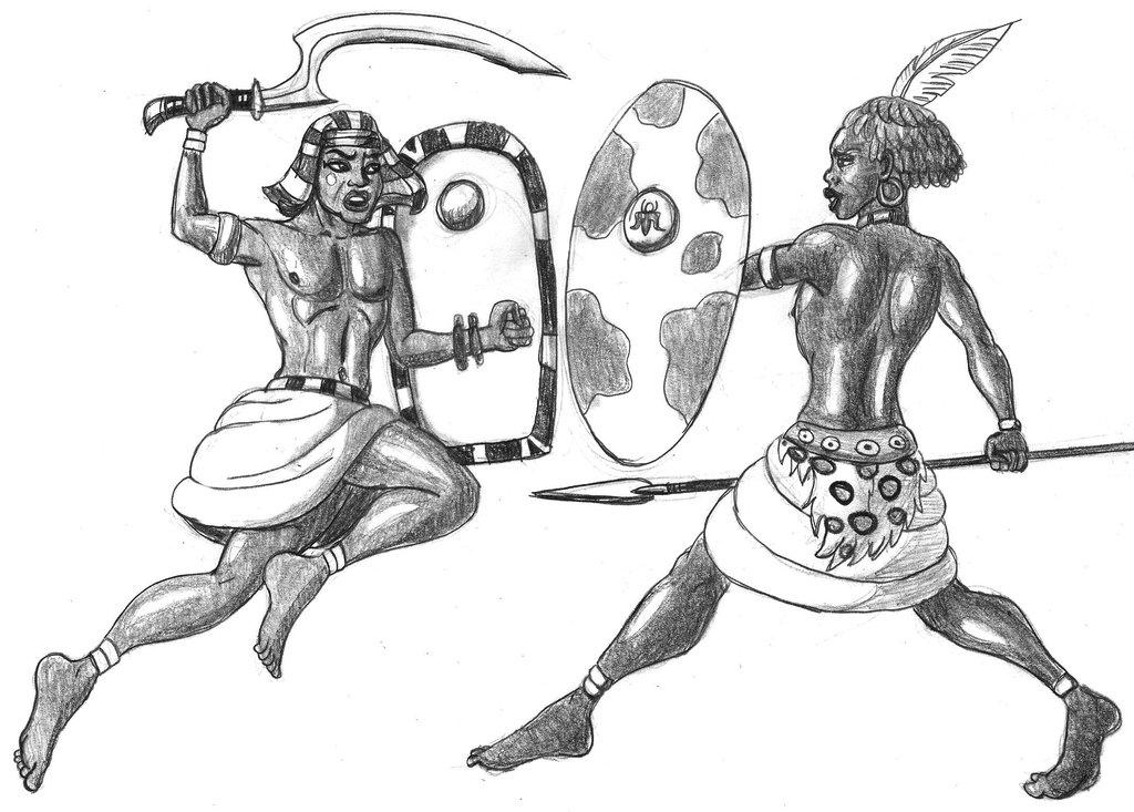 egyptian_versus_kushite_by_dabrandonsphe