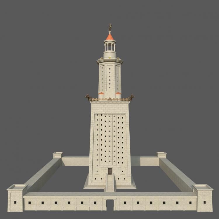 lighthouse-of-alexandria-3d-model-low-po
