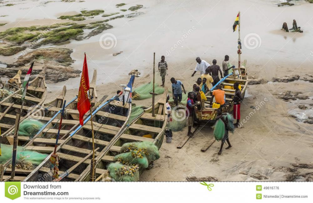 local-residents-near-fishing-boat-ghana-