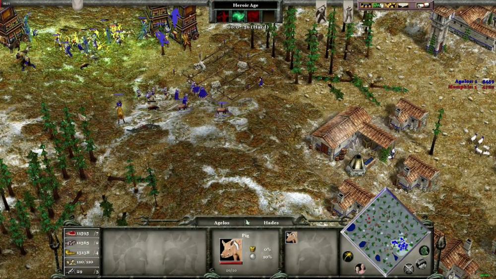 Age of Mythology 4 6 2020 Random Map(Tundra)Hard Deathmatch - YouTube