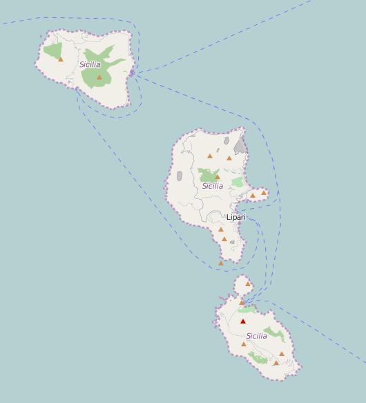 New map Aeolian Islands Scenario DesignMap making Wildfire