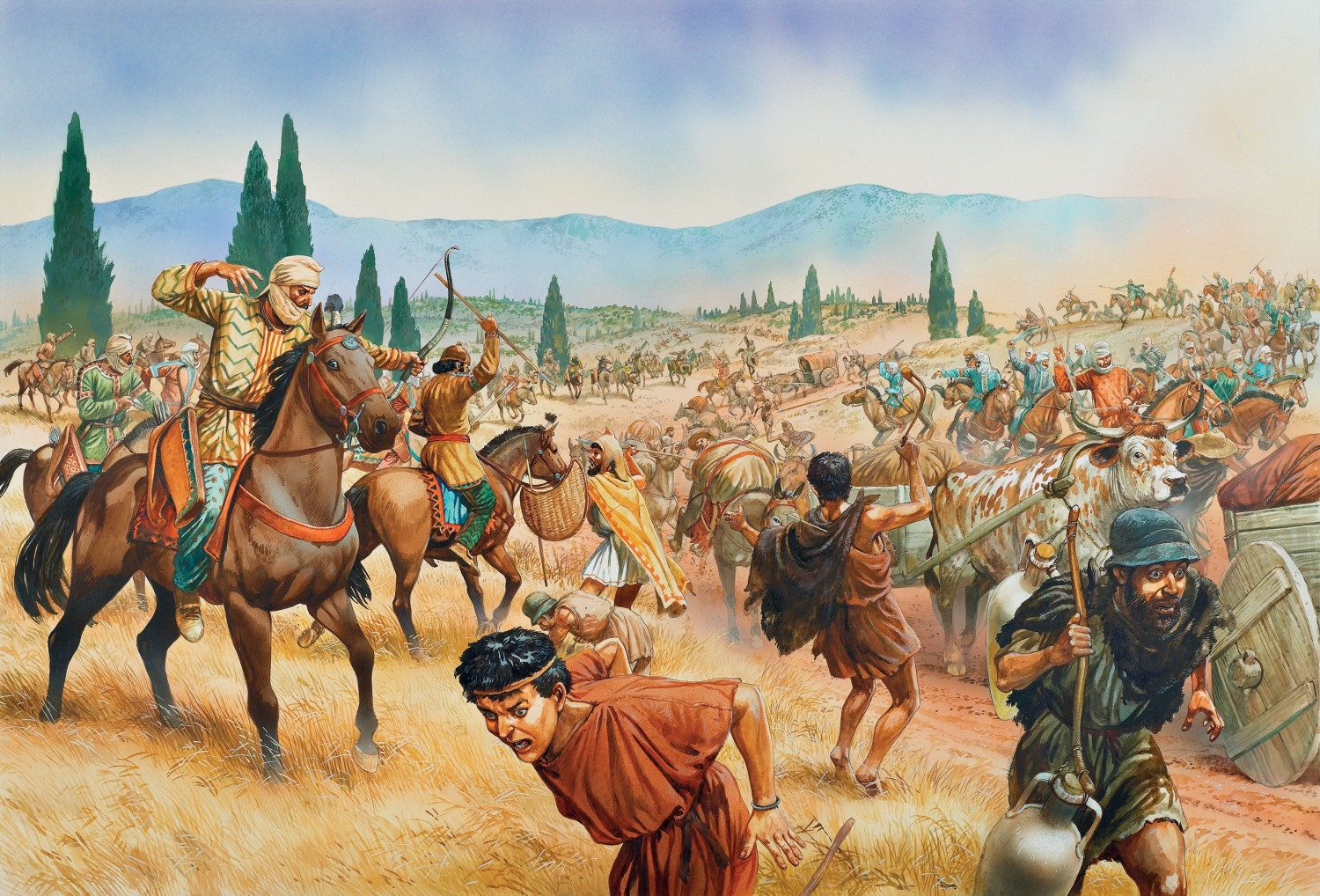 the first persian war The battle waged on the marathon plain of northeastern attica in 490 bc marked the first blows of the greco-persian war with the persians closing in on the.