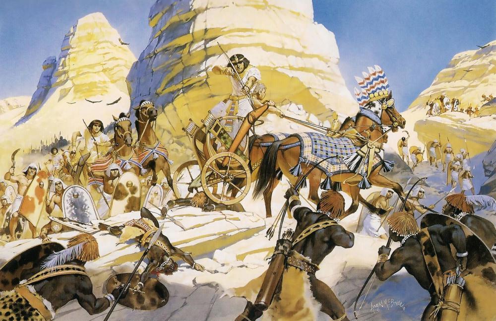 5adf3707a2cdc_NewKingdomEgyptianPharaohinchariotwarcampaignagainstKingdomofKermaKushKushites.thumb.jpg.8b439c46c916c9de9e6a1bf4fa49527e.jpg