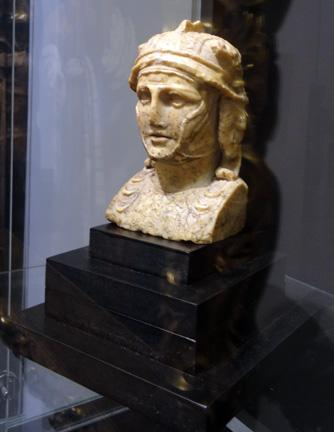 Giallo Antico herm bust of a Hellenistic Ruler, Roman Imperial Period, circa 1st Century A.D.jpg
