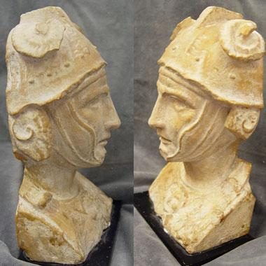 Giallo Antico herm bust of a Hellenistic Ruler, Roman Imperial Period, circa 1st Century A.D 4.jpg