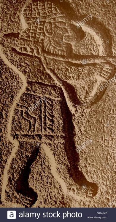tell-halaf-hunter-with-bow-aramean-relief-from-the-palace-of-kaparra-G2NJXF.jpg