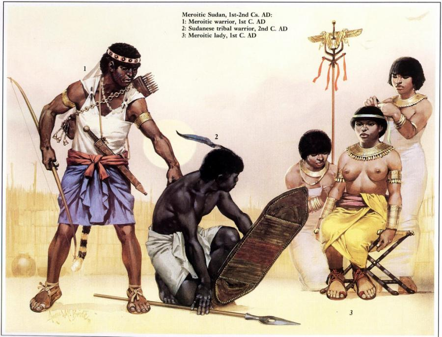 25d meroitic-nubian-warrior-holding-a-captured-tribal-warrior-in-front-of-the-queen-of-the-nubian-kingdom-of-meroc3ab-candance-amanitore.jpg