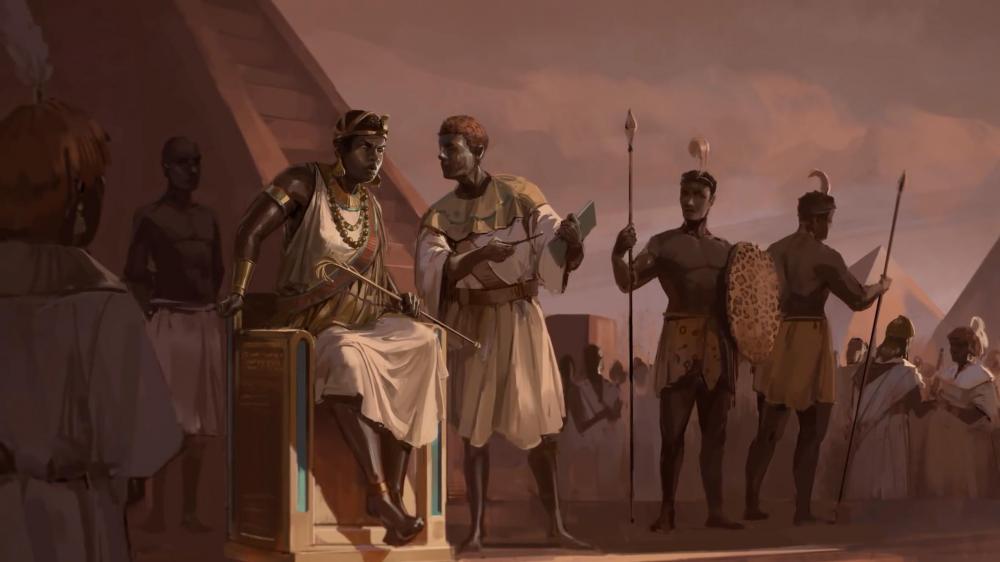 Kingdom of Kush Kushite ruler Queen Amanirenas Kandake Meroitic Meroë Sudanese pyramids Begrawiya Nubia History Africa Antiquity Royals art.jpg
