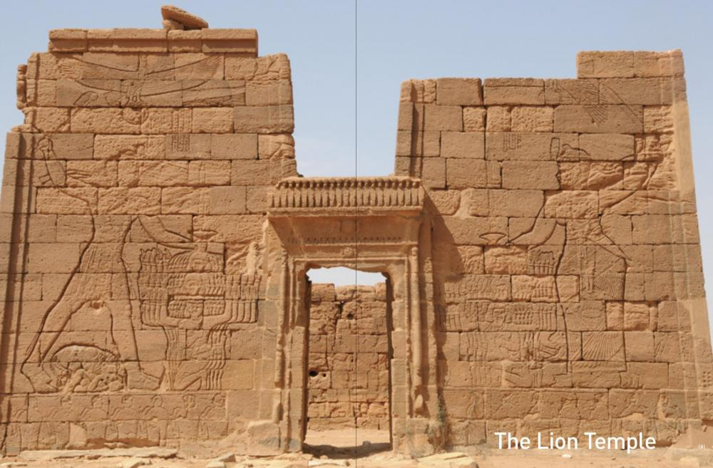 Naqa Lion temple Natakamani Amanitore Kingdom of Kush Kushite Meroitic relief pylon.jpg