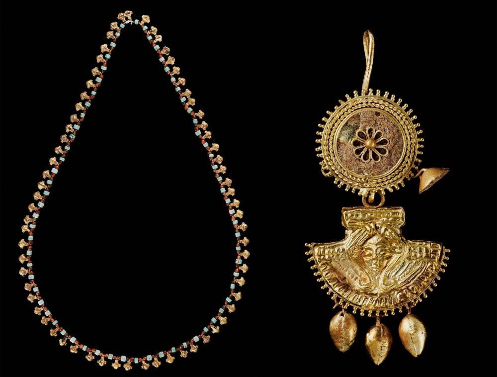 Meroitic kush gold necklace earing.jpg