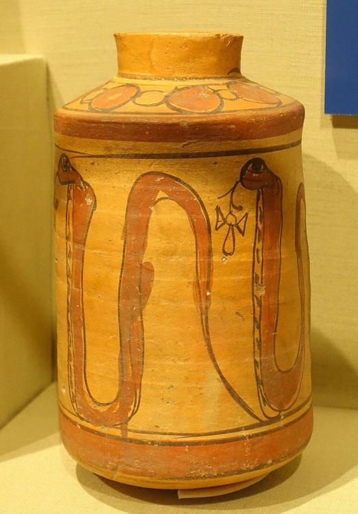 Cylindrical_jar_with_cobras_spitting_ankhs,_Nubia,_Ballana,_Cemetery_B,_tomb_130,_Meroitic_Phase_III,_200-250_AD,_ceramic,_paint_-_Oriental_Institute_Museum,_University_of_Chicago_-_DSC08059.JPG