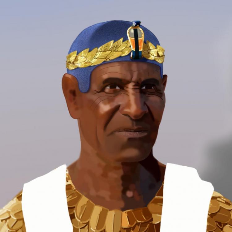 Arakamani hero portrait square WIP Sundiata Malcolm Quartey art Kushite King Meroitic portrait african history Ancient Nubia.jpg