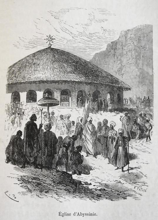 Église d'Abyssinie Abyssinian church ethiopia christian history architecture round traditional vernacular african.jpg