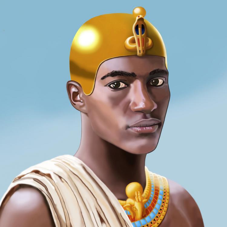 King Nastasen Kushite Pharaoh Kush Hero Portrait Nubia Sudan Africa Malcolm Quartey aka Sundiata Square 2.jpg