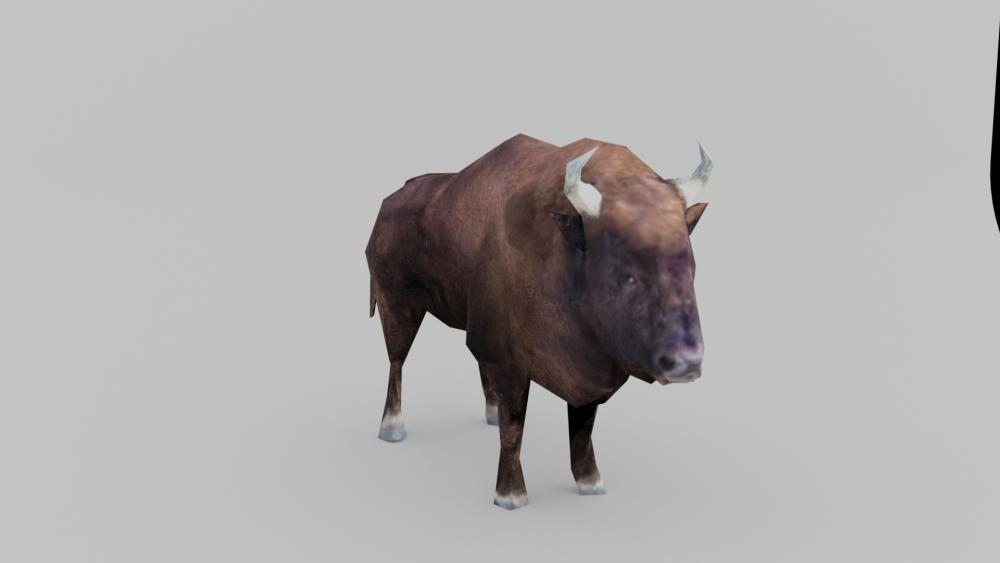 bison render low poly.png