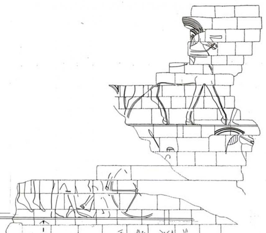 Kingdom of kush kushite relief span of decorated horses pulling chariots.jpg