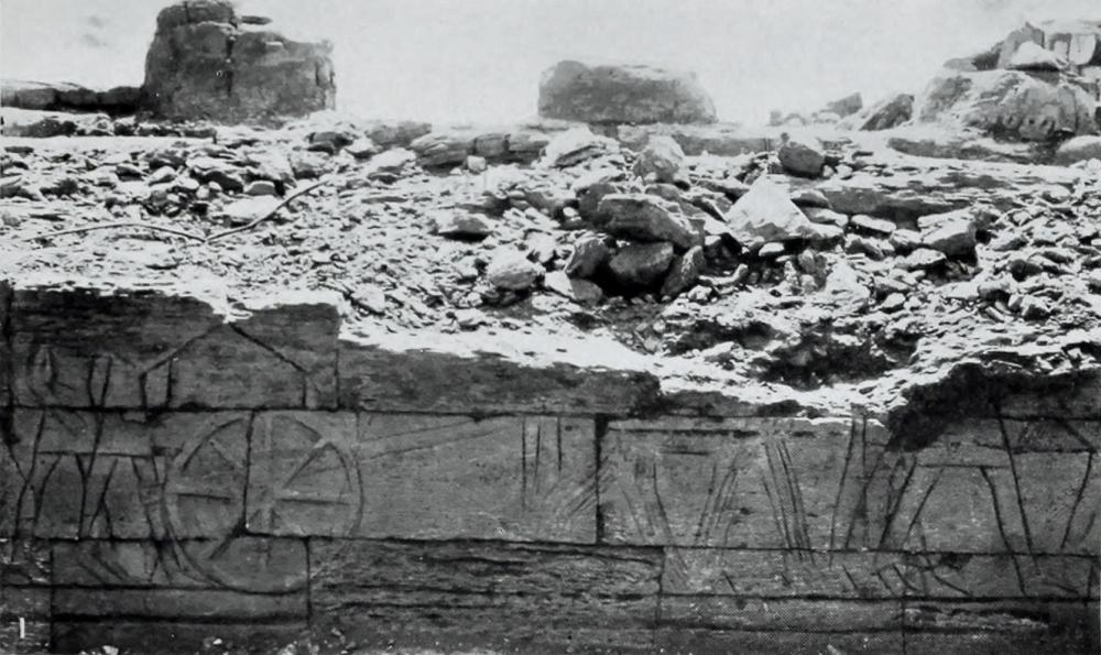 The Kingdom of Kush Kushite carving relief of a chariot in precession Meroë temple M250 Sun Temple.jpg
