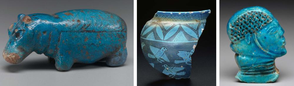Kush Kushite Kerma period faience blue glazed quartzite hippo birds prisoner.jpg