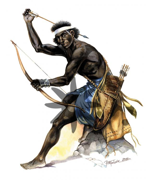Enemies of the Rome- Nomads. Nubia- Archer from the Blemmye Tribe IV Century AD.jpg