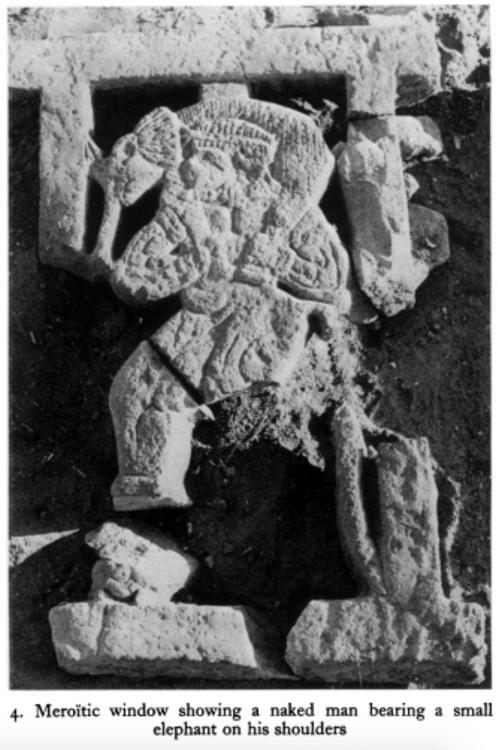 Qasr Ibrim Meroitic building window sil man with elephant on shoulders copy.jpg