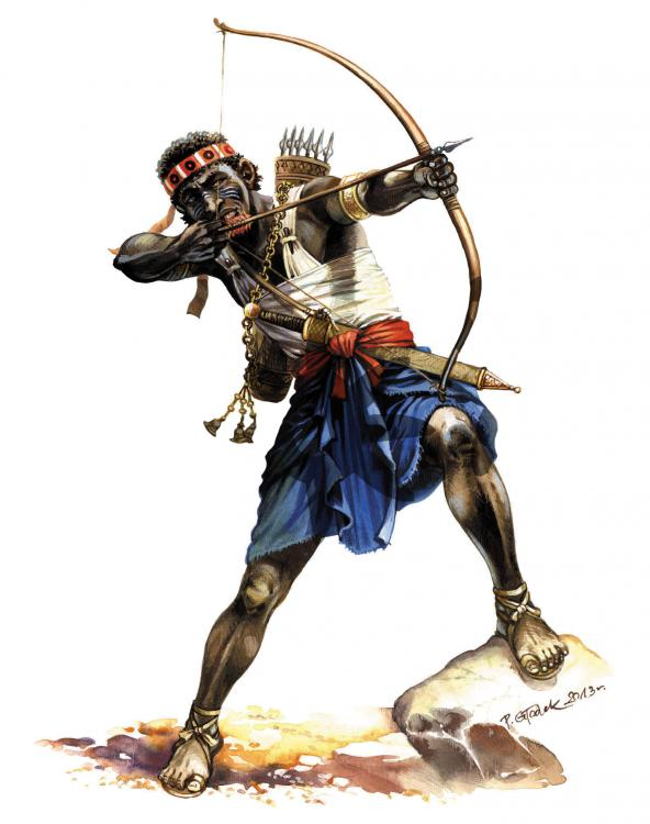 Meroitic Archer from Sudan- I-II Century AD- Enocunters with Rome.jpg
