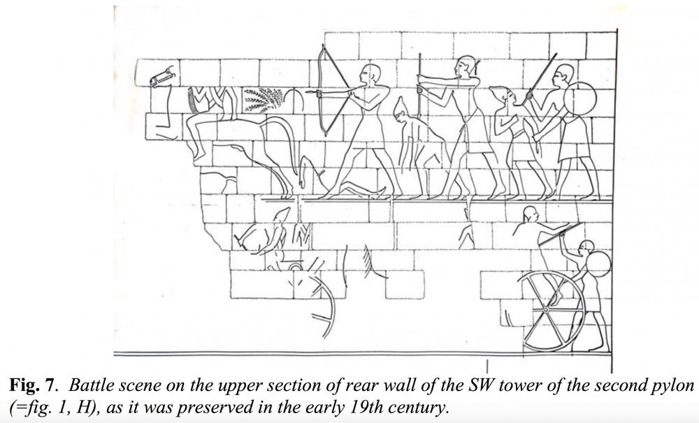 the kingdom of kush kushite relief battle scene war napata gebel jebel barkal spearmen chasing  egyptian horseman and chariots.jpg