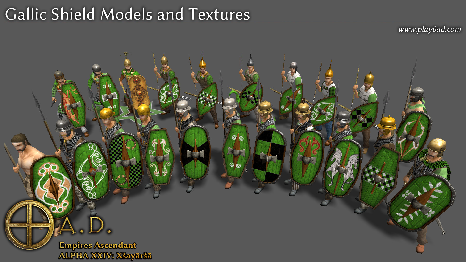 Gallic Shield Models and Textures