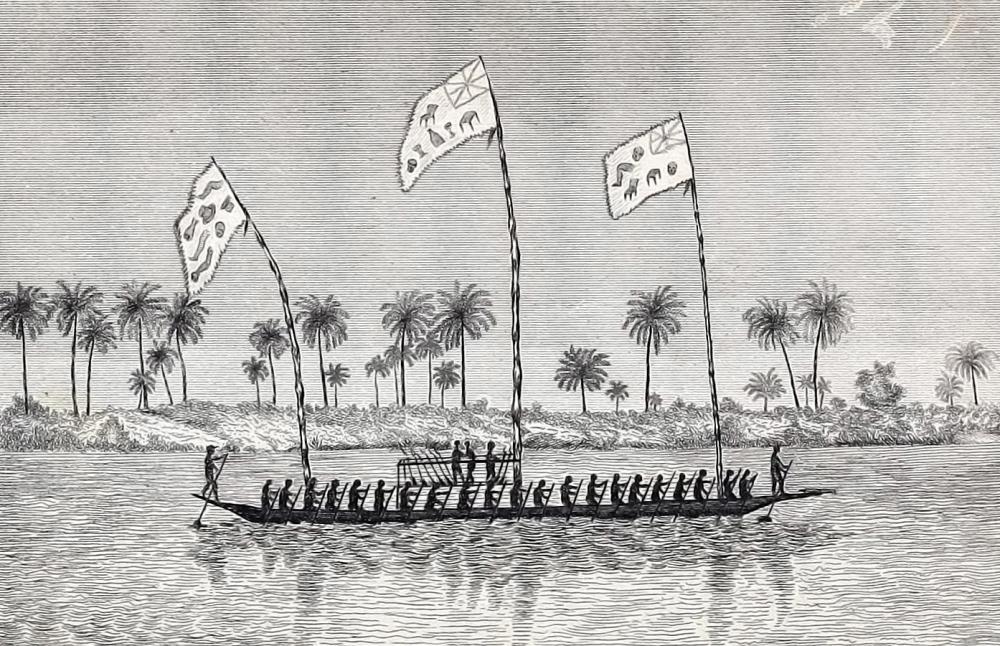 Eboe Abo Canoe Niger river Nigeria Igbo Abö via the Lander Brothers 1830 precolonial africa history boat ship cannon.jpg