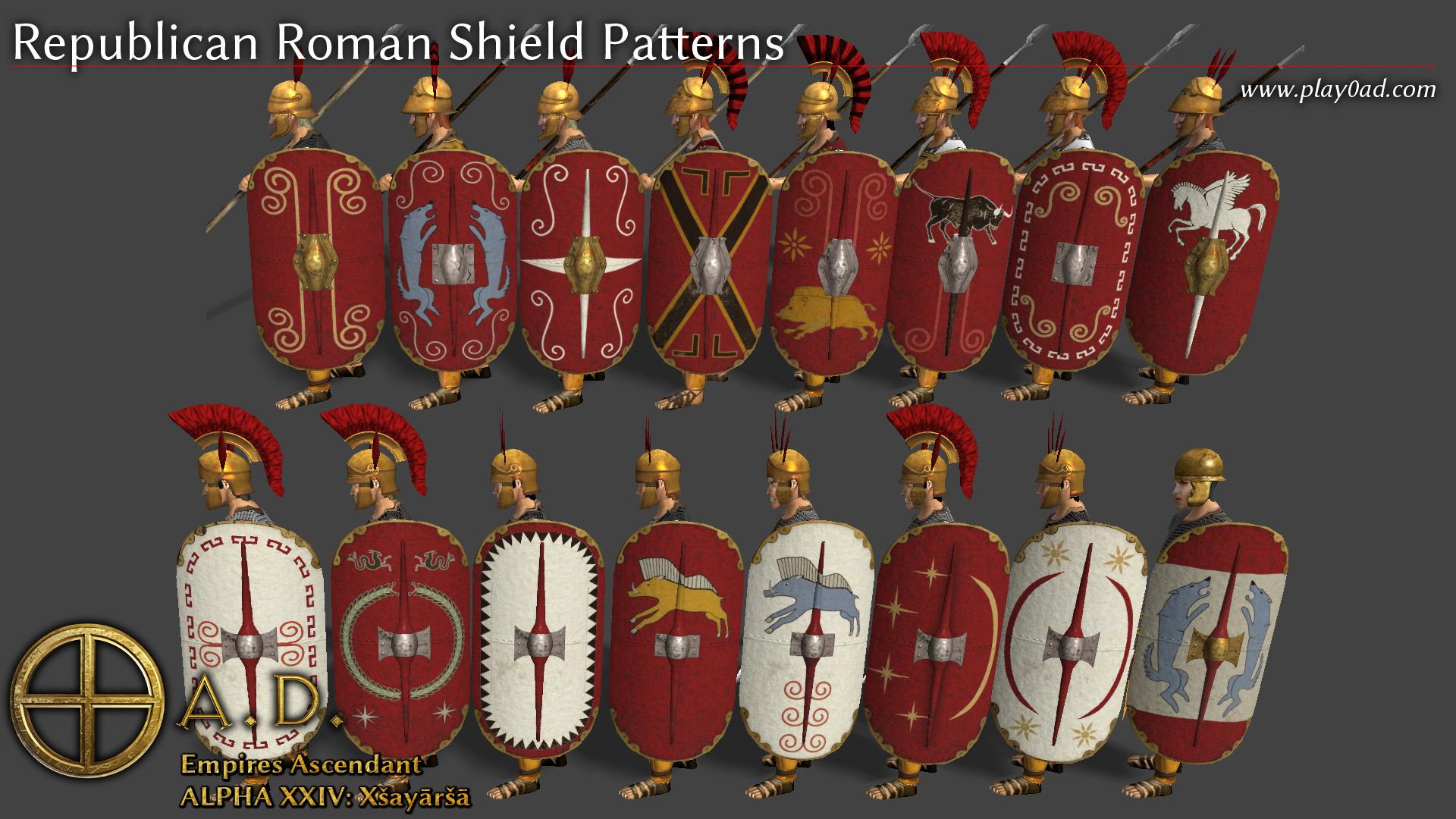 Roman Shield Patterns